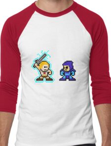 He-man, Skeletor fight! MYAAAAAAAAHH! no text Men's Baseball ¾ T-Shirt