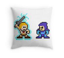 He-man, Skeletor fight! MYAAAAAAAAHH! no text Throw Pillow