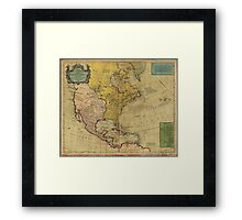 Map of North America (1765) Framed Print