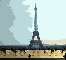 Interpretation Of The Eiffel Tower In Paris II by Al Bourassa