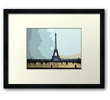 Interpretation Of The Eiffel Tower In Paris II Framed Print