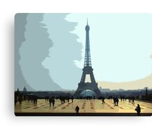 Interpretation Of The Eiffel Tower In Paris II Canvas Print