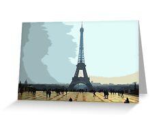 Interpretation Of The Eiffel Tower In Paris II Greeting Card