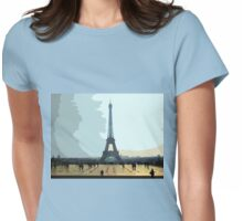 Interpretation Of The Eiffel Tower In Paris II Womens Fitted T-Shirt