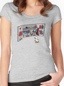 Which Duck to Be Today? Women's Fitted Scoop T-Shirt