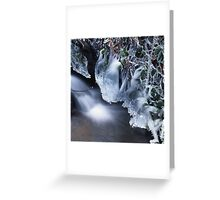 White waterfall in winter 5 Greeting Card