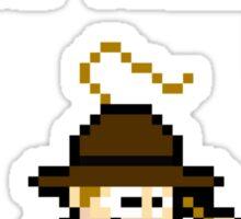 8bit Indiana Jones Hates Nazis Sticker