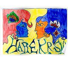 Hare Krishna Fresco Poster