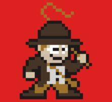 8bit Indiana Jones no text Kids Clothes