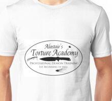 Alastair's Torture Academy (blood splatter)  Unisex T-Shirt