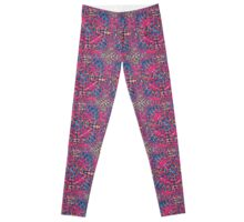 Mandala Purple Weave Leggings