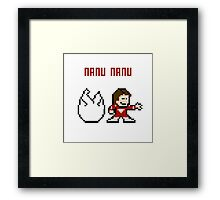 8bit Mork, Robin Williams Framed Print