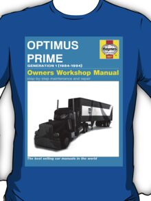 Owner Manual G1 Optimus Prime T-Shirt