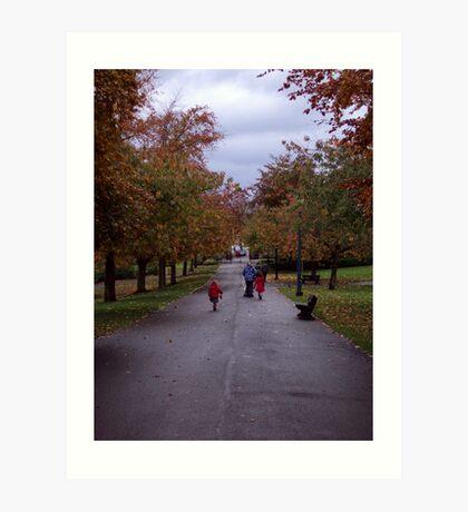 October fun in Pittencrieff Park,Dunfermline Art Print