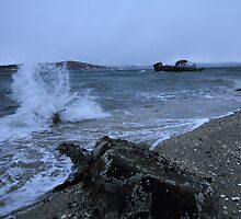 Seaspray at Tomasjordnes, Tromsø, Norway by Frank Olsen