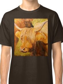 Highland Cow oil painting Classic T-Shirt