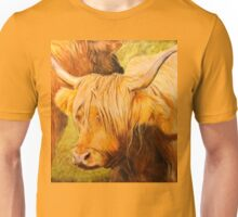 Highland Cow oil painting Unisex T-Shirt
