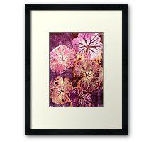 October's Garden - Monoprint Framed Print