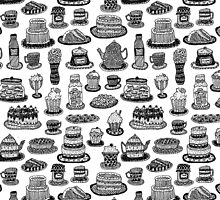 Vintage Tea Party Pattern by Stacey Muir