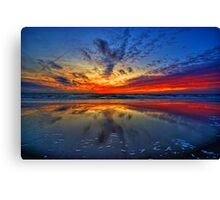 Sunset at Julianadorp Canvas Print