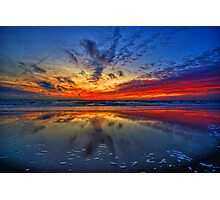 Sunset at Julianadorp Photographic Print