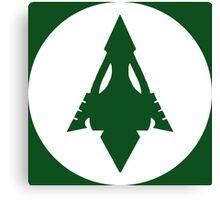 Arrow, Lantern, Whatever's Green Canvas Print