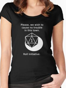 D20 Critical failure - Persuasion Women's Fitted Scoop T-Shirt