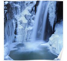 Blue waterfall in  winter 8 Poster