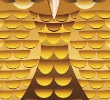 Gold Owl Sticker