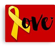 Red Friday - Yellow Ribbon Canvas Print