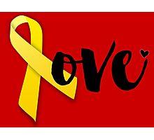 Red Friday - Yellow Ribbon Photographic Print