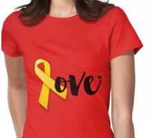 Red Friday - Yellow Ribbon Womens Fitted T-Shirt