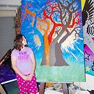 My next Painting (Tree of Life) by LESLEY BUtler