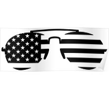 Sunglasses USA Poster