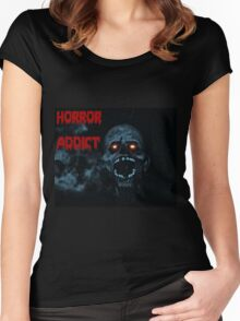 Horror addict Women's Fitted Scoop T-Shirt
