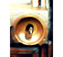 Peek - Bicycles through a Keyhole Photographic Print