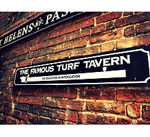 Turf Tavern Photographic Print