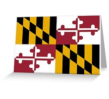 UNITED STATES, Flag of Maryland, Maryland Flag, Pure & Simple Greeting Card