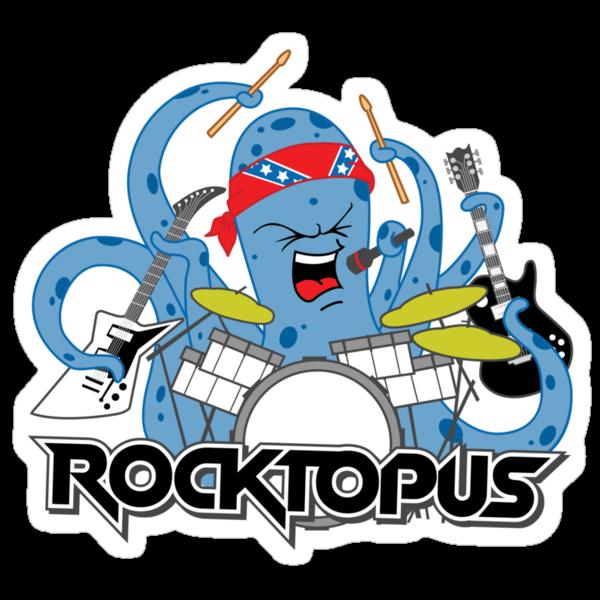 Rocktopus - Rocking Octopus by DetourShirts