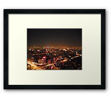 Beijing by night Framed Print