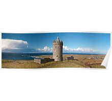 Panoramic Doolin Castle, County Clare, Ireland Poster