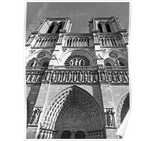 Western Facade of Notre Dame Poster