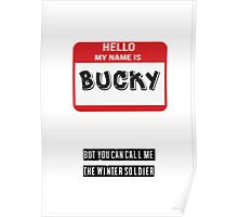 Hello My Name Is Bucky Poster