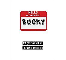Hello My Name Is Bucky Photographic Print