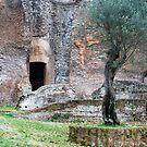Rocker Among the Ruins-Villa Adriana-Italy by Deborah Downes