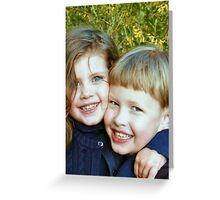 Sweet Siblings Greeting Card