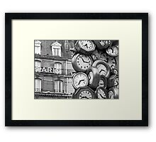 Paris Time Framed Print