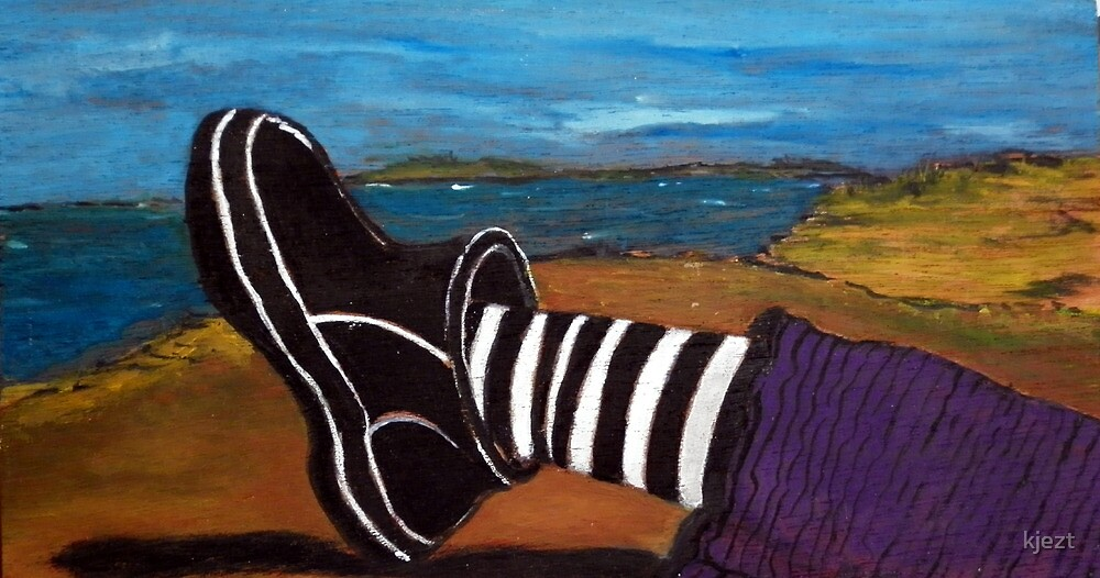 Ferns Foot - plein air 9x5 by kjezt