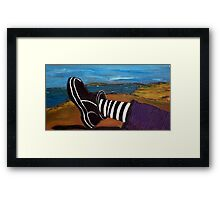 Ferns Foot - plein air 9x5 Framed Print