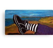 Ferns Foot - plein air 9x5 Canvas Print